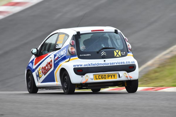 HE Racing Citroen C1 Race car at Brands Hatch
