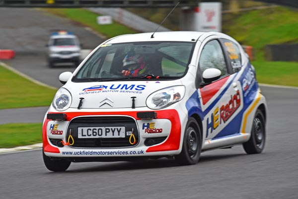 HE Racing Citroen C1 Uckfield Motor Services sponsored